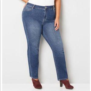 Avenue Straight Leg Jeans  22W Petite NWT